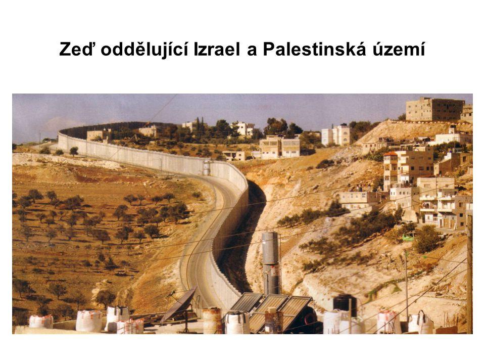 Zeď oddělující Izrael a Palestinská území