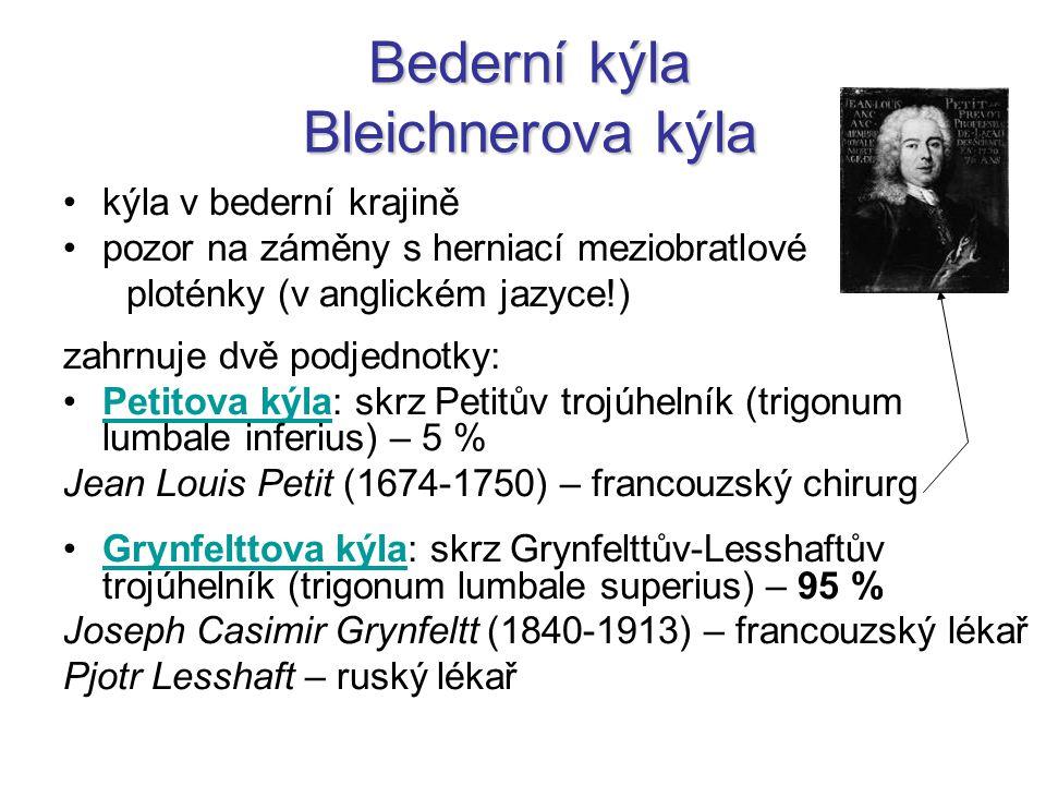 Bederní kýla Bleichnerova kýla