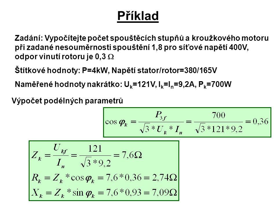 Výpočet podélných parametrů