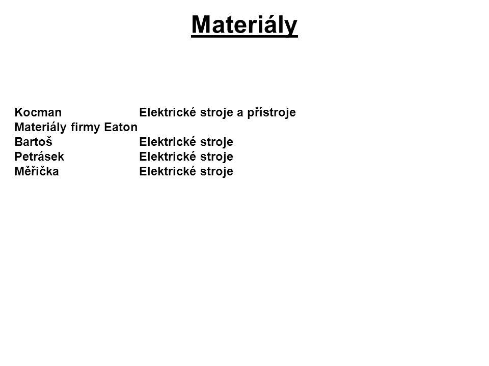 Materiály Kocman Elektrické stroje a přístroje Materiály firmy Eaton