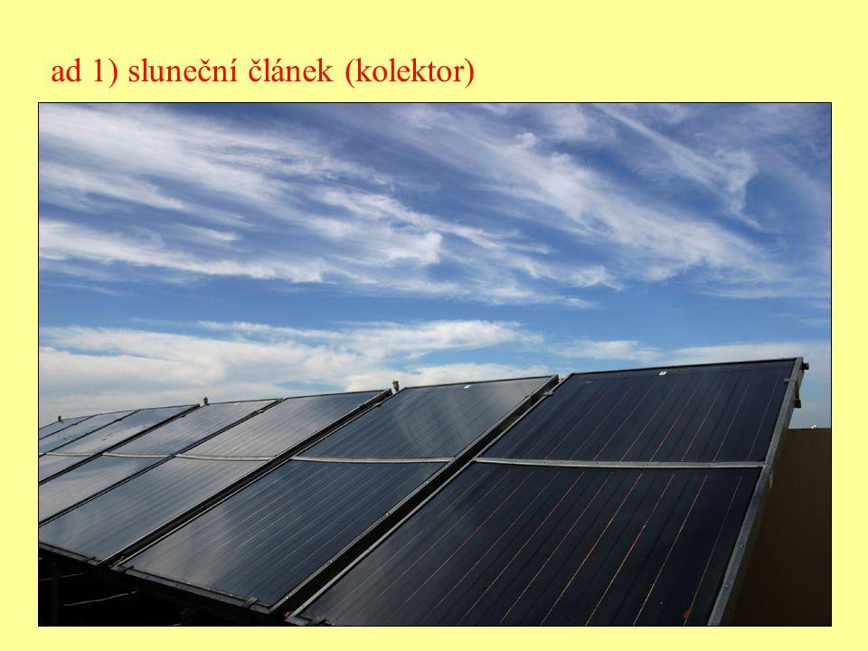 ad 1) sluneční článek (kolektor)