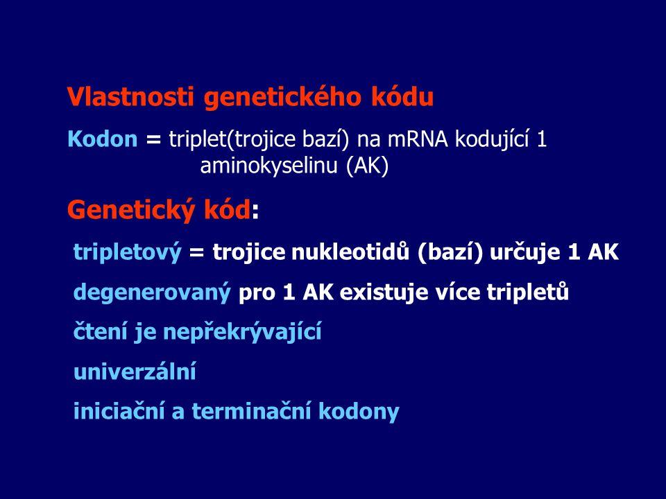 Vlastnosti genetického kódu