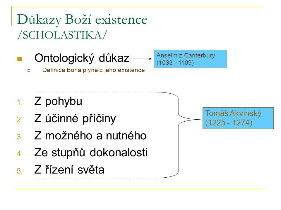 Důkazy Boží existence /SCHOLASTIKA/
