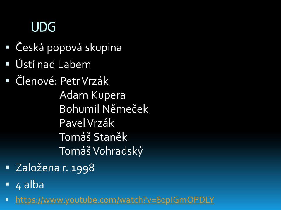 UDG Česká popová skupina Ústí nad Labem