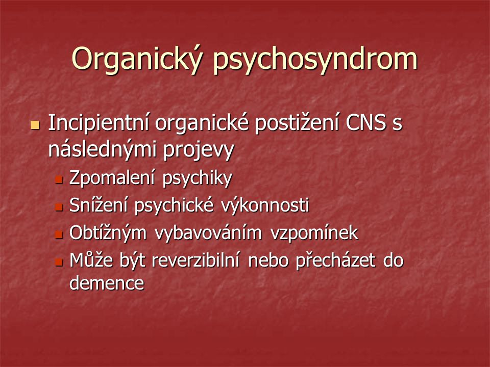 Organický psychosyndrom