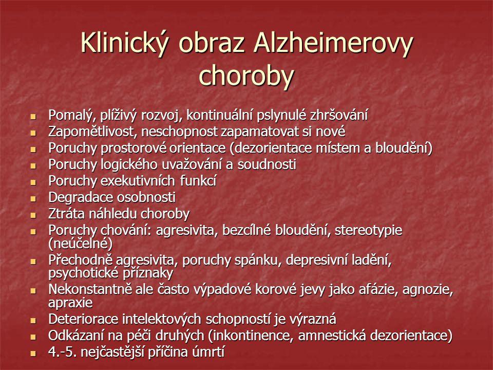 Klinický obraz Alzheimerovy choroby