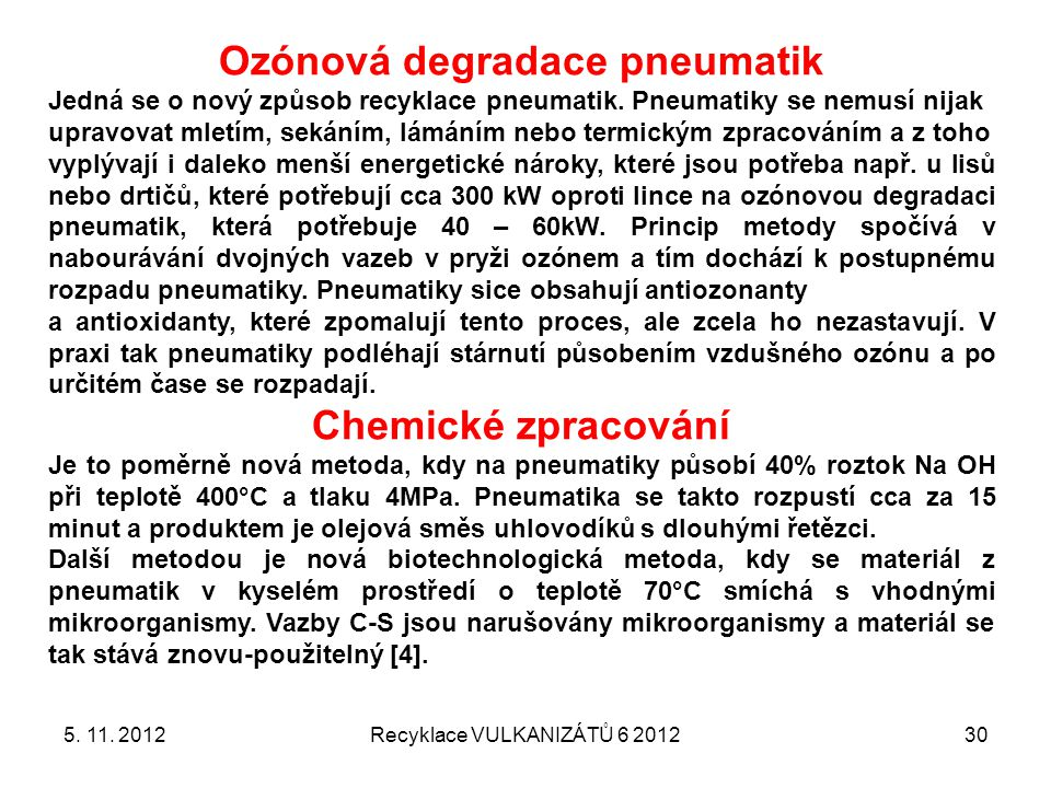 Ozónová degradace pneumatik