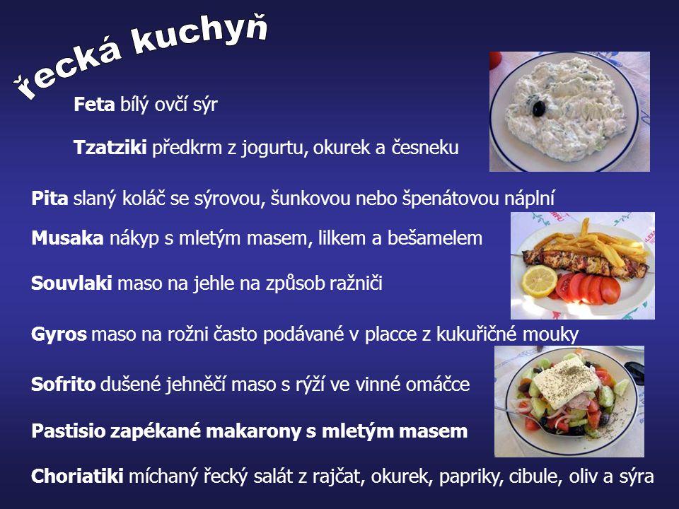řecká kuchyň Feta bílý ovčí sýr