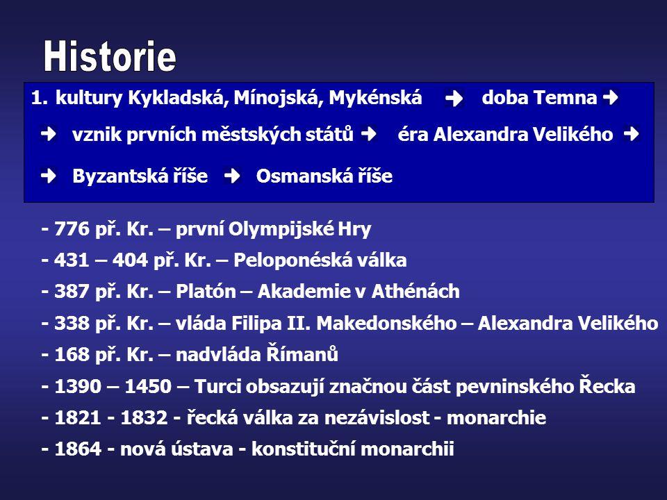 Historie kultury Kykladská, Mínojská, Mykénská doba Temna