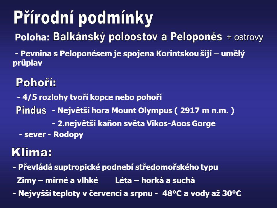 Balkánský poloostov a Peloponés