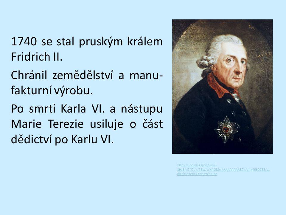 1740 se stal pruským králem Fridrich II
