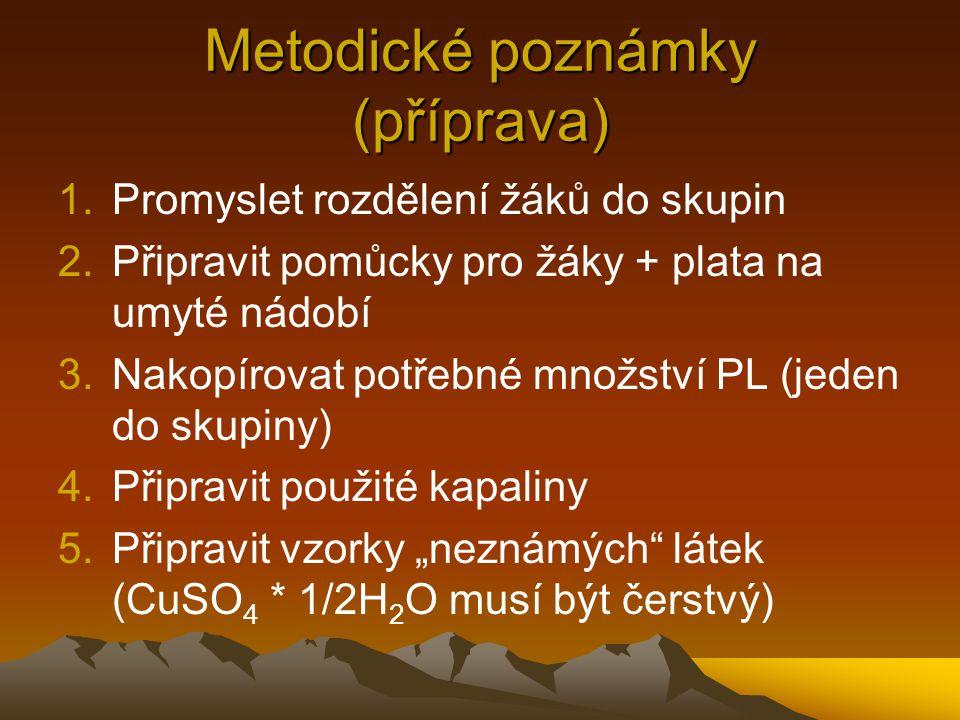 Metodické poznámky (příprava)
