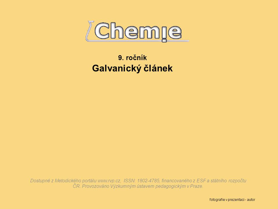 9. ročník Galvanický článek