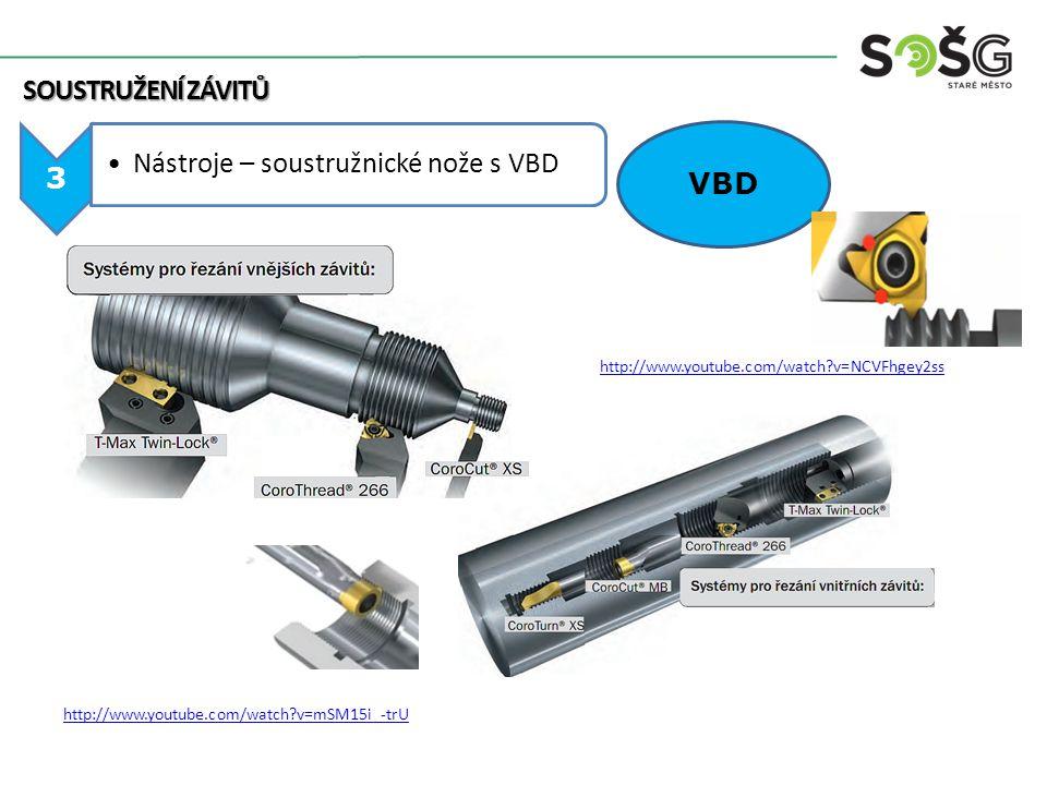 Nástroje – soustružnické nože s VBD