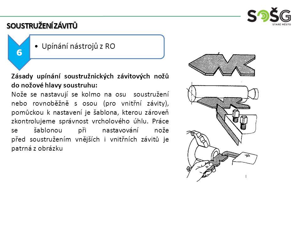 Upínání nástrojů z RO Soustružení závitů 6
