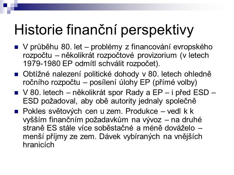 Historie finanční perspektivy