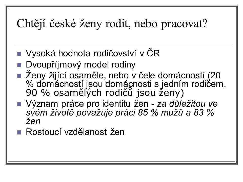Chtějí české ženy rodit, nebo pracovat