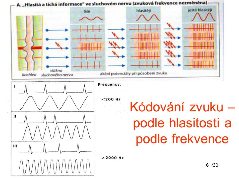 Kódování zvuku – podle hlasitosti a podle frekvence