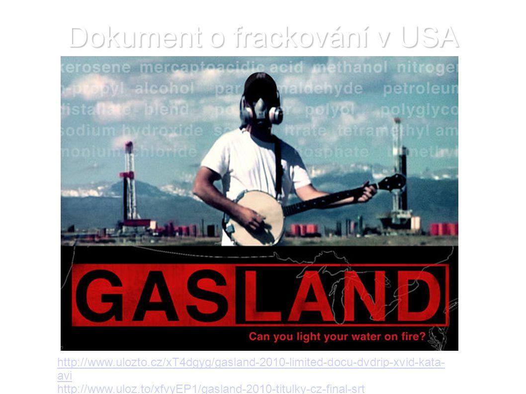 Dokument o frackování v USA