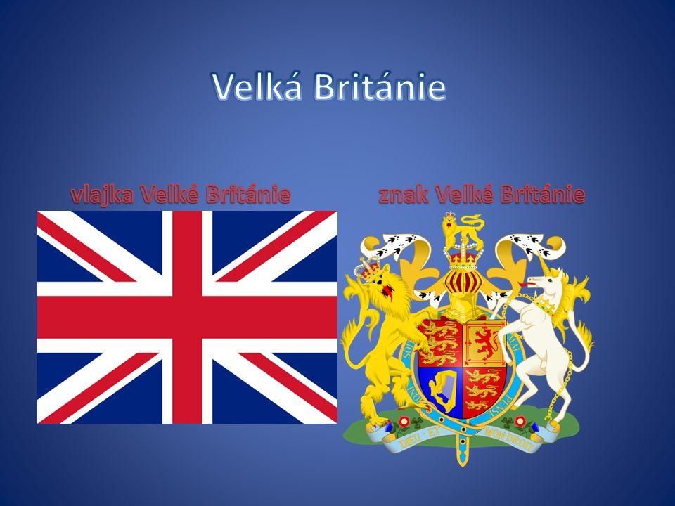 Velká Británie vlajka Velké Británie znak Velké Británie