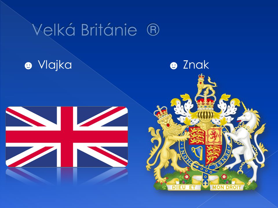 Velká Británie ® ☻ Vlajka ☻ Znak