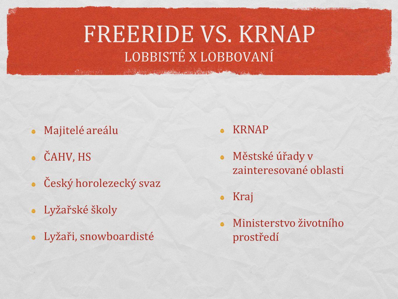 FREERIDE VS. KRNAP LOBBISTÉ X LOBBOVANÍ