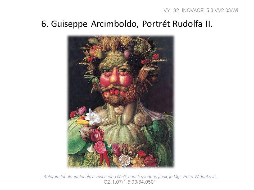 6. Guiseppe Arcimboldo, Portrét Rudolfa II.