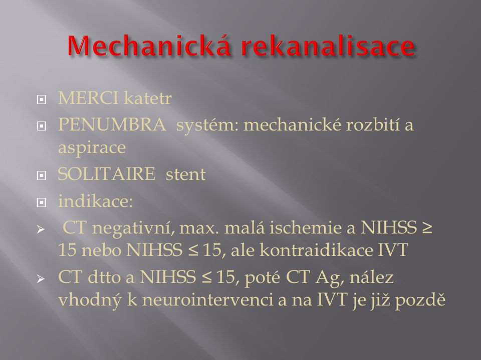Mechanická rekanalisace