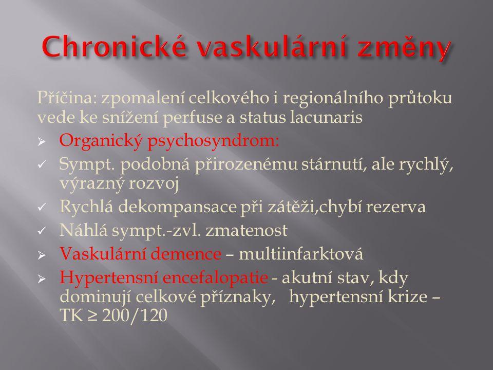Chronické vaskulární změny