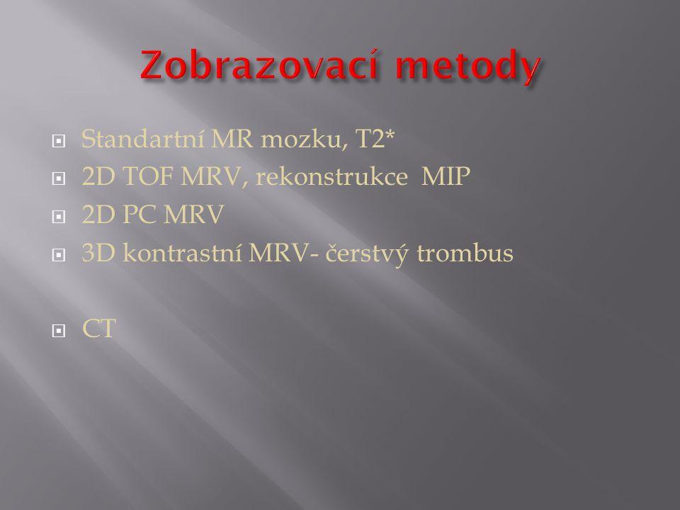 Zobrazovací metody Standartní MR mozku, T2*