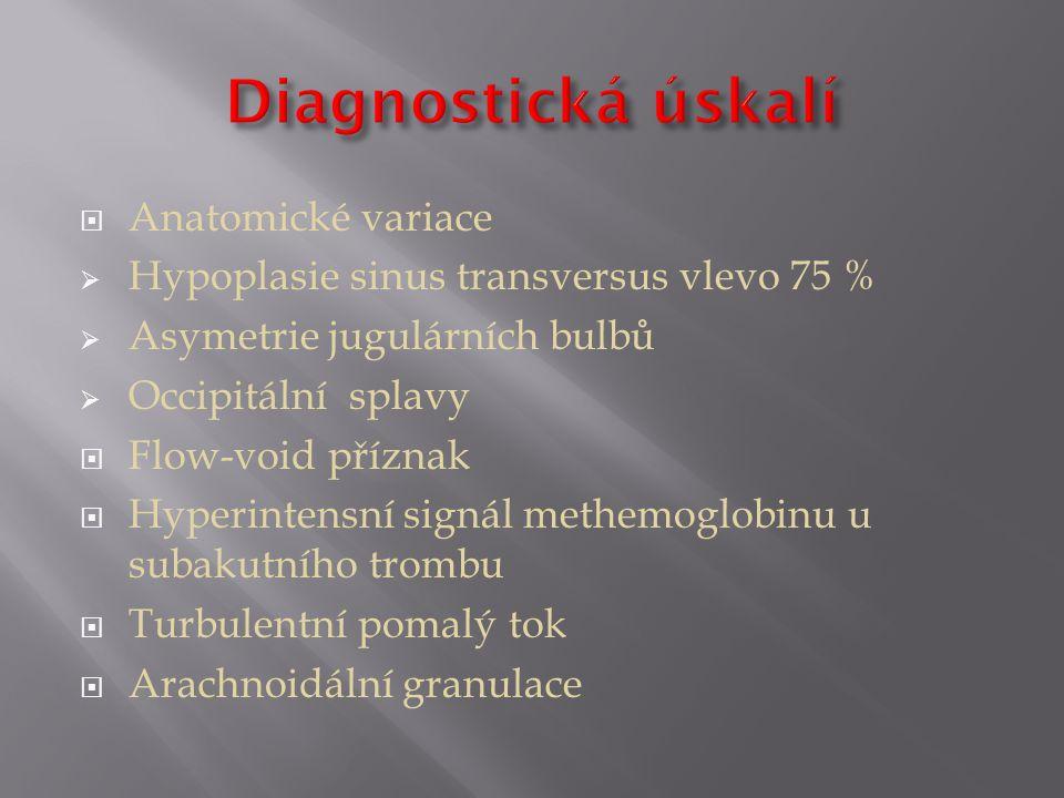 Diagnostická úskalí Anatomické variace