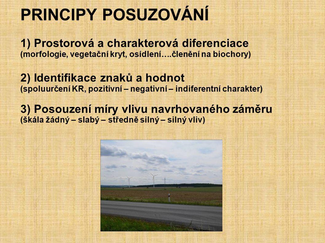 PRINCIPY POSUZOVÁNÍ 1) Prostorová a charakterová diferenciace