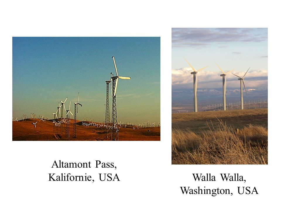 Altamont Pass, Kalifornie, USA Walla Walla, Washington, USA