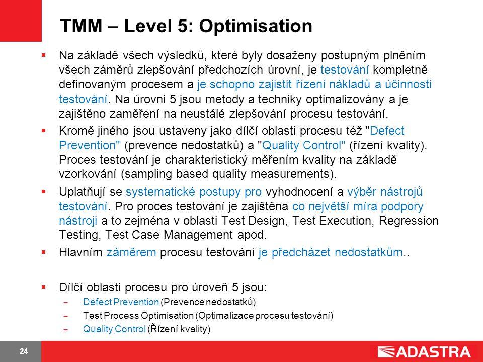 TMM – Level 5: Optimisation