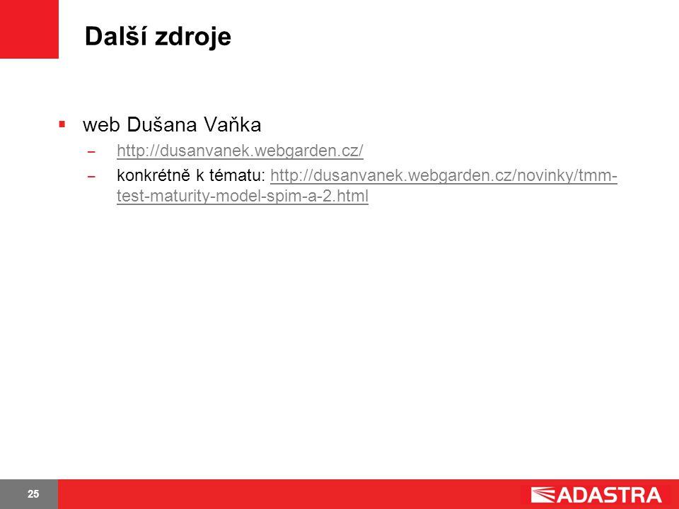 Další zdroje web Dušana Vaňka http://dusanvanek.webgarden.cz/