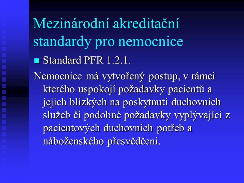 Mezinárodní akreditační standardy pro nemocnice