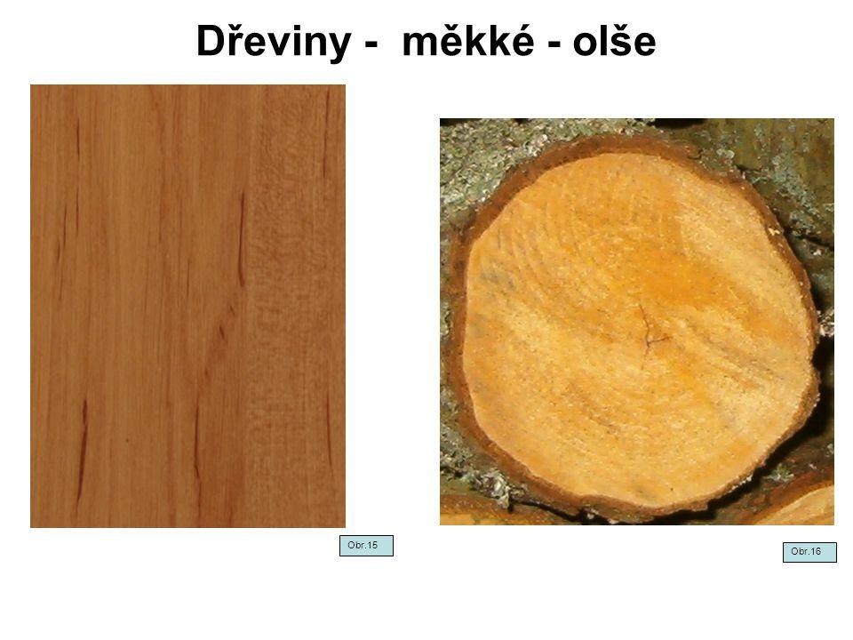 Dřeviny - měkké - olše Obr.15 Obr.16