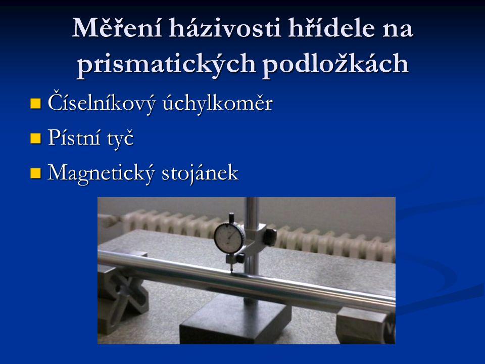 Měření házivosti hřídele na prismatických podložkách