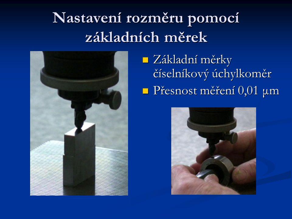 Nastavení rozměru pomocí základních měrek