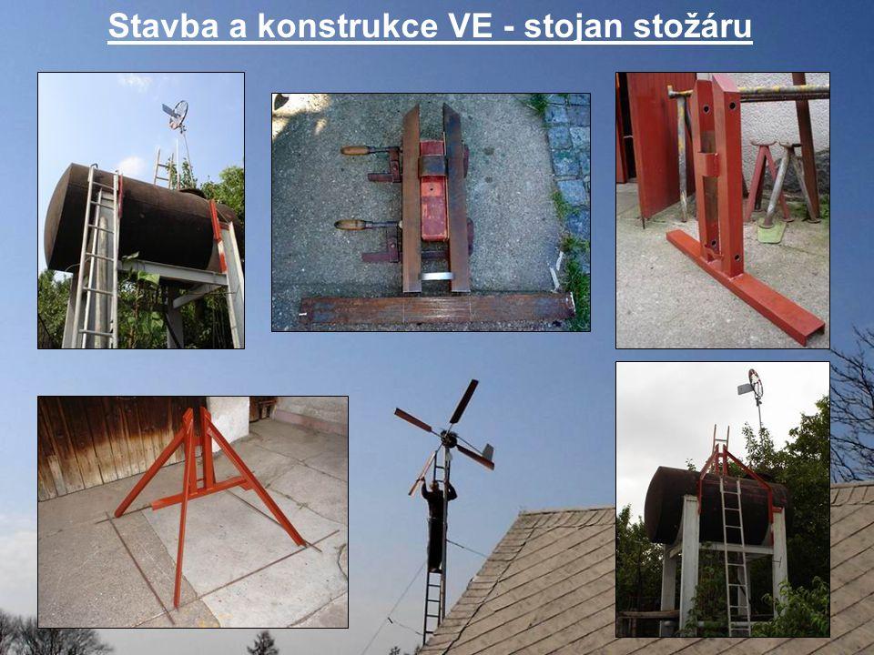 Stavba a konstrukce VE - stojan stožáru