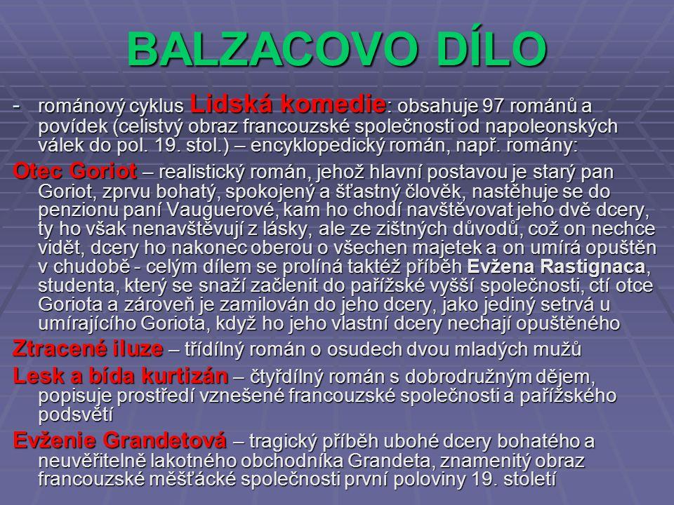 BALZACOVO DÍLO
