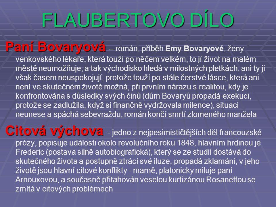 FLAUBERTOVO DÍLO