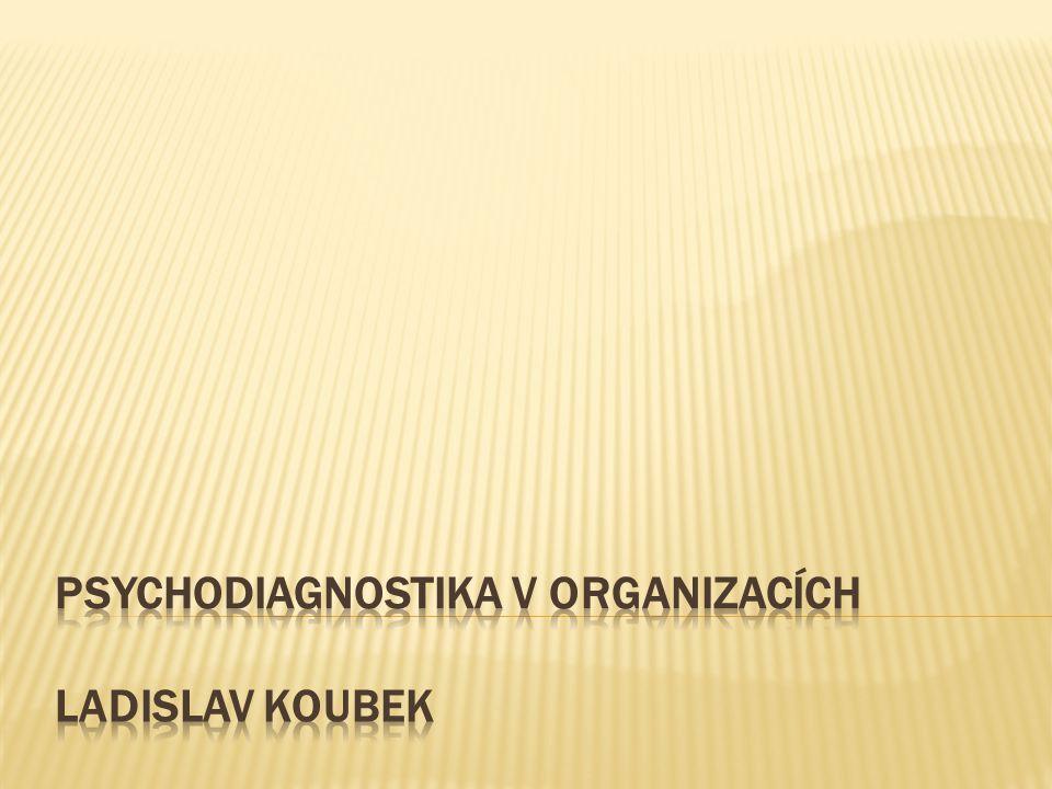 PSYCHODIAGNOSTIKA v organizacích Ladislav koubek