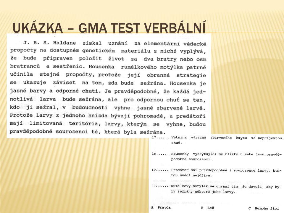 UKÁZKA – GMA TEST VERBÁLNÍ