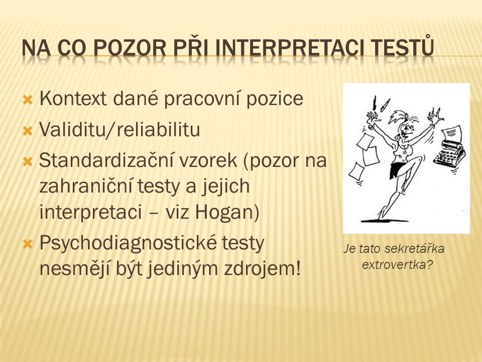 Na co pozor při interpretaci testů