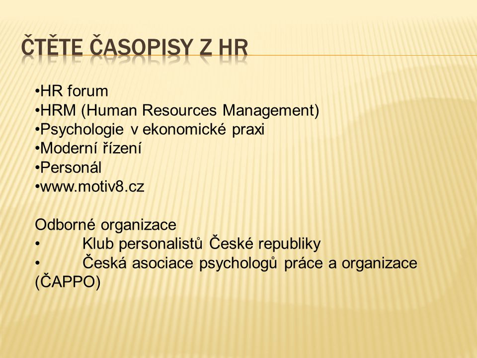 Čtěte časopisy z hr HR forum HRM (Human Resources Management)