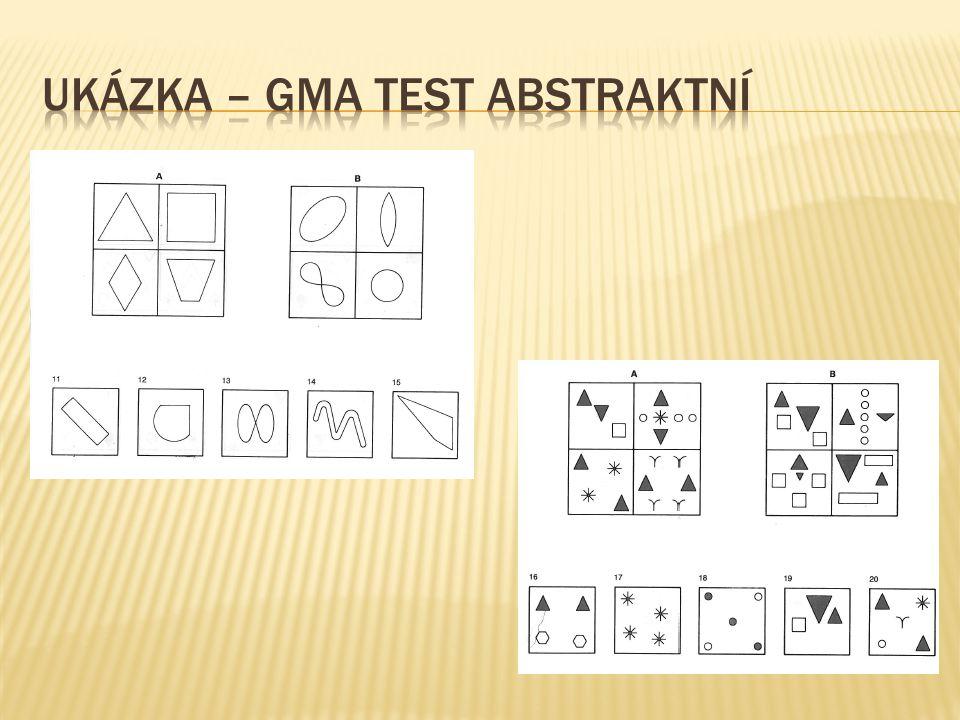 UKÁZKA – GMA TEST ABSTRAKTNÍ