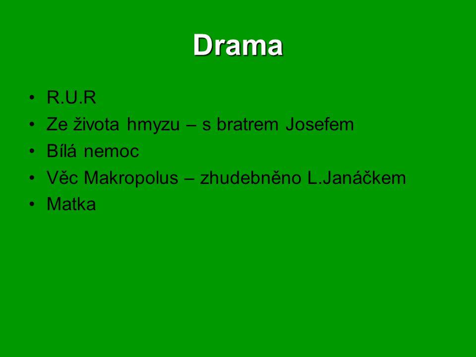 Drama R.U.R Ze života hmyzu – s bratrem Josefem Bílá nemoc