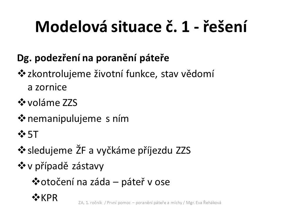 Modelová situace č. 1 - řešení