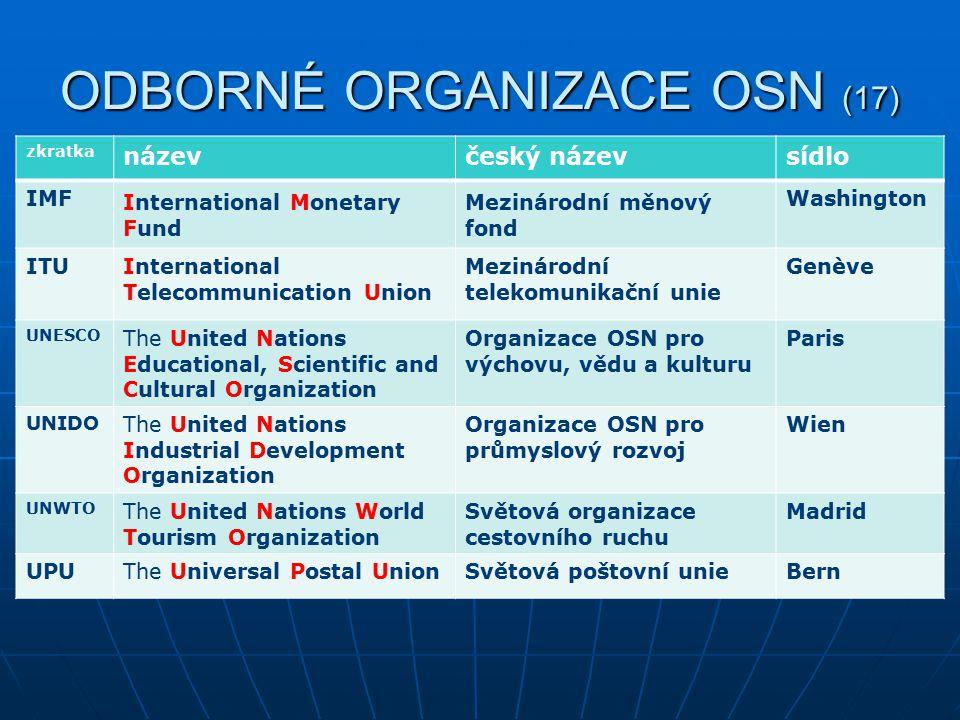 ODBORNÉ ORGANIZACE OSN (17)